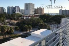 Contemporary Horizontal Condo Balcony Railing  |  Sarasota Florida