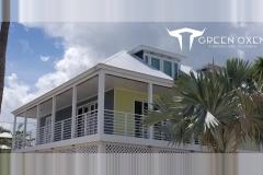 White Epulum Balcony Railing   Big Pine Key, Florida