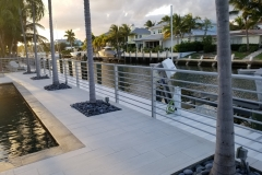 Horizontal Aluminum deck railing | Lighthouse Point, Florida