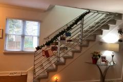 Residential modern stair railing | Virginia Beach