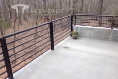 Modern Black Balcony Railing | Stockton, Missouri