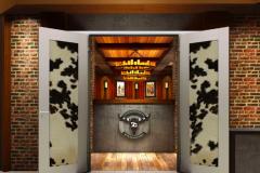 Modern Custom Aluminum Restaurant Double Door