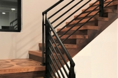 Black Epulum stair railing | Michigan Lower Peninsula